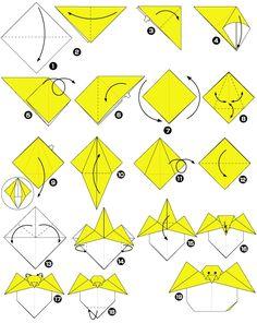 Retiring chick origami