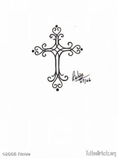 unique Women Tattoo - Small Cross Tattoos For Women  ...