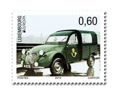 """europa stamps: Luxembourg 2013 - Europa 2013 """"The postman van""""  celebrating PostEuropa's 20th anniversary - 1993-2013"""