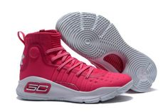 63e92af7a786 2017 Cheap Under Armour Curry 4 Pink White For Sale