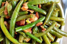 My Nana would serve up these green beans for all sorts of special occasions. They are one of the most requested recipes from my family.