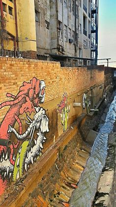 Street art to be found in interesting places around the city of Johannesburg