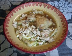 Jacobin Sop   The recipe is for soupe Jacobine. This soupe is not a soup in the modern sense, but a sop (food soaked in a liquid before being eaten). According to the menu at the end of the cookbook this was served during the main meal of the second day, the dynee that was served at noon. The sop must be served in gold, silver and pewter dishes.