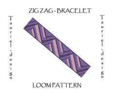Loom pattern native american inspired bracelet pattern by Tauriel, $2.99, #loom, #pattern