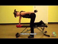 Exercicios concentrados para os tricípite - YouTube
