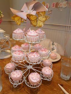 JC's Bridal Shower Cupcake Tiered Centerpiece