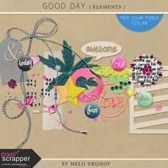Good Day - Elements by Melo Vrijhof #scrapbooking