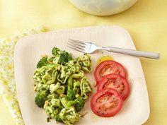 Toss a tortellini pesto salad dish