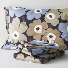Marimekko Pieni Unikko Dusk Sheet Sets in Sale Bed & Bath | Crate and Barrel