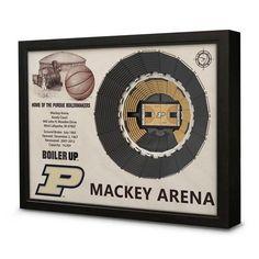 Purdue University Wall Art 3D Basketball Arena Replica