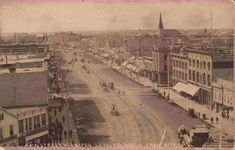 Manitoba - Winnipeg - Main Street looking south from City Hall, 1882 Historic Aerials, Old Photos, Vintage Photos, Zen, Northwest Territories, Canadian History, Birds Eye View, Historical Pictures, Ancient History