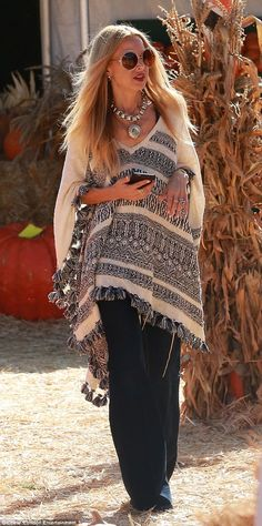 Dressed to impress: Rachel Zoe looked every inch the boho beauty as she enjoyed a family d...