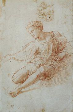 Raffaello Sanzio da Urbino, called Raphael Study for the Madonna Alba 15th century