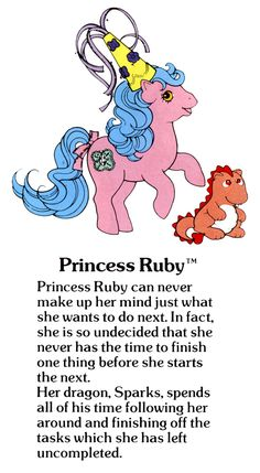 My Little Pony Princess Ruby and Sparks the dragon fact file ...