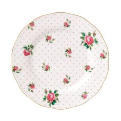 New Country Roses Cheeky Pink Vintage Salad Plate