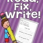 Do your students need some practice with editing writing.  This pack contains 25 pages with 3 sentences each.  Students will hone their editing ski...