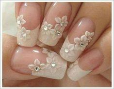 70 top bridal nails art designs for next year is part of Bride nails - 70 Top Bridal Nails Art Designs for next year Beautifulart Nailart 3d Nail Art, Diy 3d Nails, Trendy Nail Art, Gel Nails, Coffin Nails, Trendy Hair, Acrylic Nails, Nail Polish, Toenails