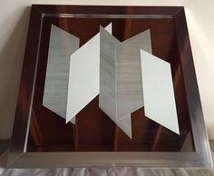 1978 Greg Copeland Mirror Op Art 663 Geometric Screen On Mirror Art 41x41 Signed