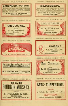 This is a sample book of vintage druggist cut and gummed labels made available by digitizing the collection by the Sloan Foundation and Lyrasis. The original author of the book and labels is Harris and Company Use these amazing vintage labels for all kinds of labeling projects, and even for your ...