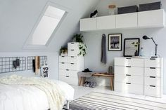 Nordli ikea usa - Ikea DIY - The best IKEA hacks all in one place Ikea Bedroom, Home Bedroom, Bedroom Decor, Nordli Ikea, Minimal Bedroom, Student Room, My New Room, Home And Living, Room Inspiration