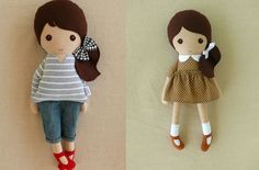 Because the right dress reminds me of v on riverdale Diy Rag Dolls, Sewing Dolls, Ooak Dolls, Diy Doll, Felt Dolls, Doll Toys, Baby Dolls, Rag Doll Tutorial, Fabric Toys