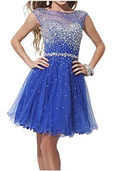 Sunvary Royal Blue Sweety 16 Rhinestone Chiffon Pageant Prom Dance Dresses Homecoming Cocktail Gowns Short - US Size 2- Royal Blue Sunvary http://www.amazon.com/dp/B0142HP6BE/ref=cm_sw_r_pi_dp_Qx84vb1NQWVYD