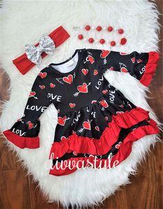 Cupid's Arrow Ruffle Dress