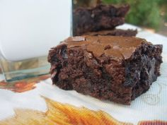 Ultimate Double Chocolate Brownies - Just made these minus the chocolate chips and yum! Fast and easy dessert.