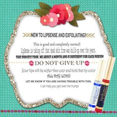 New to LipSense, DO NOT WORRY!!!! Contact me today and I will help you!!  www.senegence.com/TimelessEleganceByTara