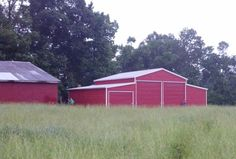 A-Frame Carolina Barn - Boxed Eave Metal Barn Structure Carport Prices, Garage Prices, Metal Horse Barns, Metal Barn, Metal Pole, Building A Pole Barn, Building A House, Building Ideas, Metal Building Prices