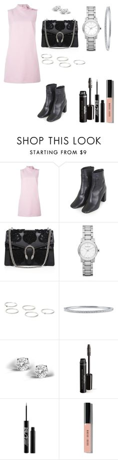 """""""Untitled #40"""" by katiemarte ❤ liked on Polyvore featuring RED Valentino, Topshop, Gucci, Burberry, BERRICLE, Glitzy Rocks, Urban Decay and Bobbi Brown Cosmetics"""
