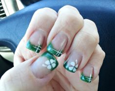 St. Patty's Clover Nail Art Design. --Mar 2013--