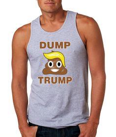 Dump Trump Blonde emoji 2016 elections Men's Jersey Tanktop election anti Donald Trump emoticon shirt election 2016 tank top