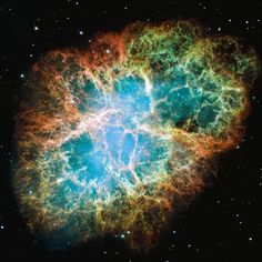 M1 Crab Nebula, classification: Supernova, Remnant, position: 05h 34m, +22°, 00' (Taurus), distance from earth: 6,500 ly, instrument/year: WFPC2, 1999, 2000