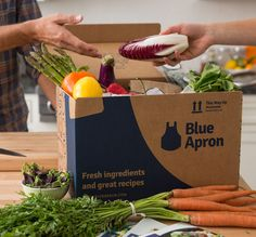 We Tried Blue Apron: Here's What Happened--- Seriously though. I need to get a Blue Apron acct. it is too amazing. Great Recipes, Vegan Recipes, Cooking Recipes, Favorite Recipes, What's Cooking, Get Healthy, Healthy Eating, Healthy Food, Just In Case