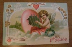 Antique Easter Postcards Bunnies Cupids Eggs Lot of 4 | eBay