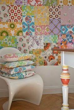 more patchwork wallpaper