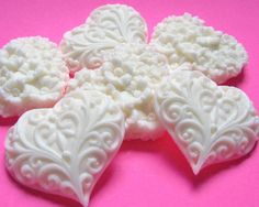 Wedding Shower Favors  40 Heart Soaps for Bridal by EsscentsSoaps, $50.00