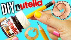 DIY NUTELLA SHARPENER | EASY DIY School Supplies