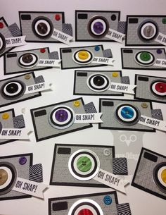 camera tags - love the buttons for the lens