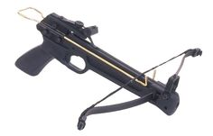 Spitfire Pistol Crossbow 50lb draw eight Entry level bow with steel limbs Plastic stock Manual safety catch adjustable sights Comes with 2 bolts You