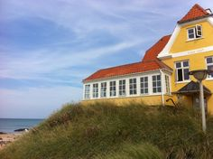 Lønstrup Denmark Danish Food, Restaurant, Cabin, Mansions, Architecture, House Styles, Places, Beautiful, Home Decor
