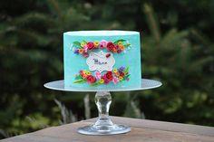 Simple cake with flowers - Cake by Pavlina Govedarova