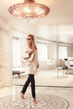 Ivanka Trump with eponymous shades, shoes and handbag