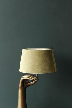 Peridot Green Sumptuous Velvet Lamp Shade - Available in 3 Sizes - From £30.00 #rockettstgeorge #green #velvet #hand #ommudra #lampshade #interior #interiors #interiordesign #homeware