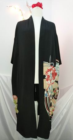 Lined kimono - 'Knot' pattern by KempGhaniClothing on Etsy
