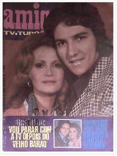 REVISTA AMIGA - 1973 - na capa a atriz ROSAMARIA MURTINHO e CLAUDIO CAVALCANTE - do elenco da novela CARINHOSO da Rede Globo