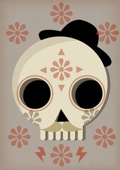 my 2 favorite things skulls and mustaches!