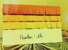 Paint chip-inspired save-the-date or Thank You card by jessicacharlton, via Flickr