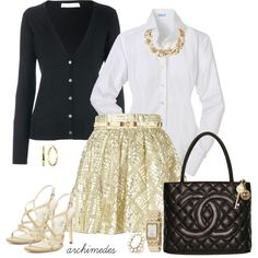 """""""Alice + Olivia in Gold"""" by archimedes16 on Polyvore"""